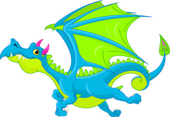 Cartoon flying dragon