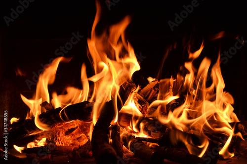 Foto Spatwand Vuur / Vlam Feuer