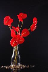 Floral Arrangement with Anthurium Flowers