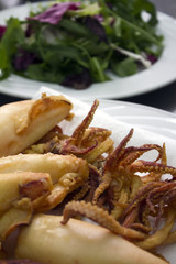 fried squid (calamari)