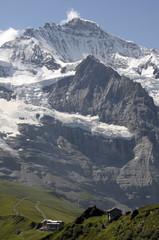 Jungfrau above the Mannlichen footpath in Switzerland