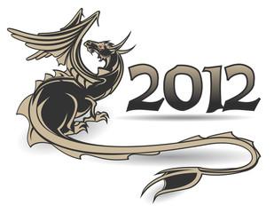 Black dragon a symbol of year 2012