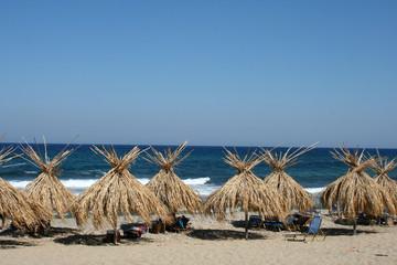 Reed beach umbrellas