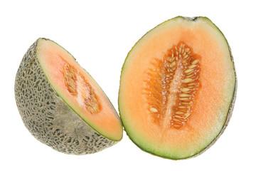 Rock Melon in Halves