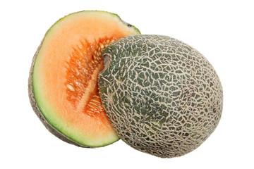 Halves of Rock Melon