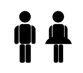 Mann Frau - Symbol Toilette