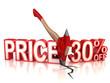 30 percent discount 3d concept