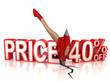 40 percent discount 3d concept
