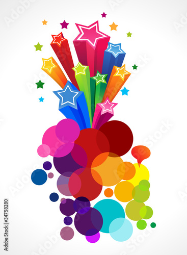 abstract colorful star blast