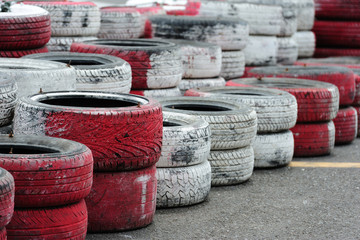 Tires in Racing Track