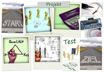 Projekt - Moodboard mit verschiedenen Bildern