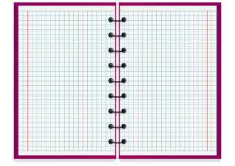 Opne spiral notepad