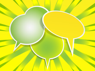 Three speech bubbles