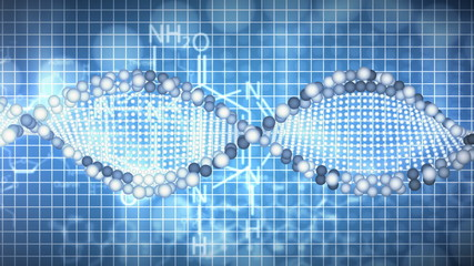 Animated background of DNA