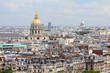 Paris cityscape with Invalides and Pantheon