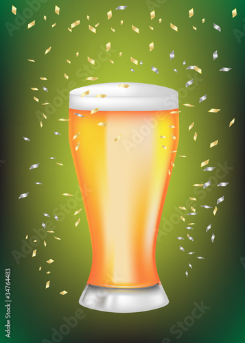 celebration beer glass