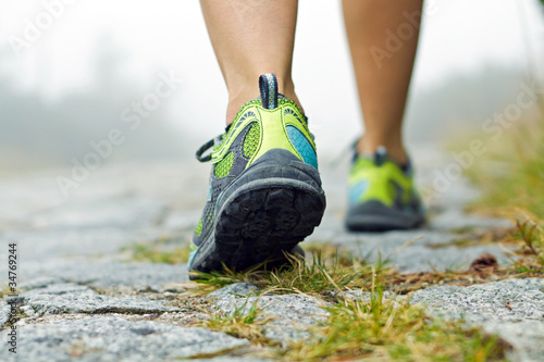 Walking exercise, sport shoes