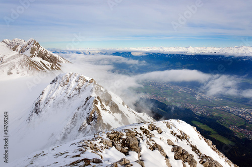 Innsbruck snowy mountains