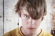 Angry Teenage  Boy