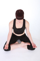 Yoga lotus pose padmasana healthy exercise routine