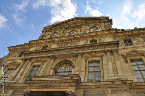Louvre building in Paris.