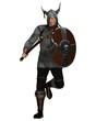Fantasy Style Viking Warrior Attacking