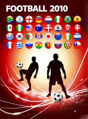 Global Soccer Event on Abstract Light Background