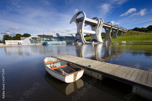 Tuinposter Kanaal The Falkirk Wheel