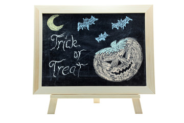 halloween trick or treat drawing