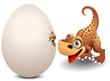 Dinosauro cucciolo con Uovo-Baby Dinosaur with Egg-Vector