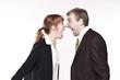 Streitsituation zwischen Businessmann und Businessfrau
