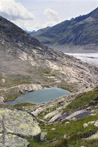 Switzerland - mountain lake by Aletschgletscher