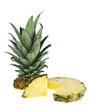 Zerschnittene Ananass mit Scheibe