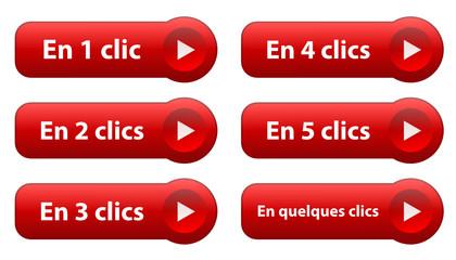 """Poster Boutons Web """"EN 1 CLIC… EN QUELQUES CLICS"""" (cliquer ici)"""