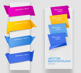 Set of colorful paper banners. Vector illustration.