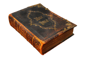 Isolated Image of an old Holy Bible