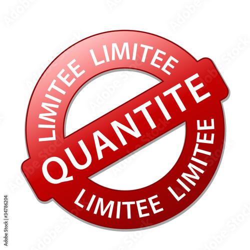 """Tampon Publicitaire """"QUANTITE LIMITEE"""" (offre spéciale soldes)"""