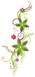 Ranke, flora, Blumen, Blüten, filigran, grün, pink
