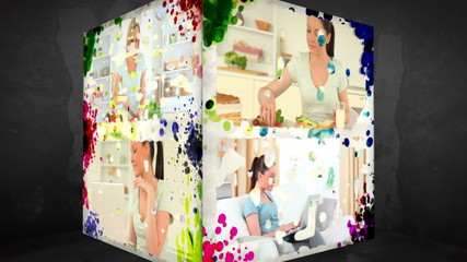 3D Animation-Cube of Women