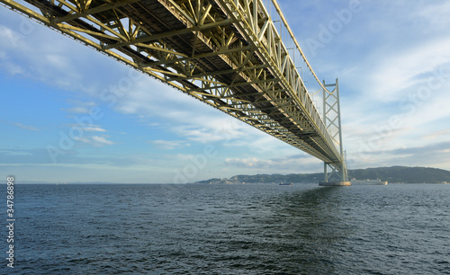 Under the Akashi Kaikyo Suspension Bridge
