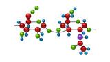 Molecule of hyaluron poster
