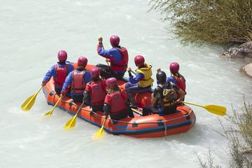 Rafting on a river Soca, Slovenia, Triglav national park
