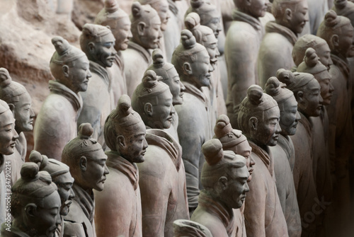 Deurstickers Xian Armée de terre cuite, Chine 16