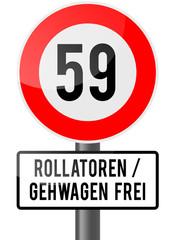 59. Geburtstag - Rollator frei