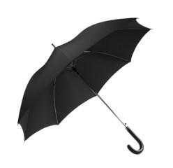 Black umbrella with clipping path