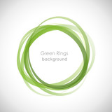 Green Rings Background # Vector