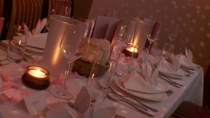 Tisch Dekoration, Restaurant
