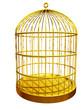 goldener Vogelkäfig geschlossen