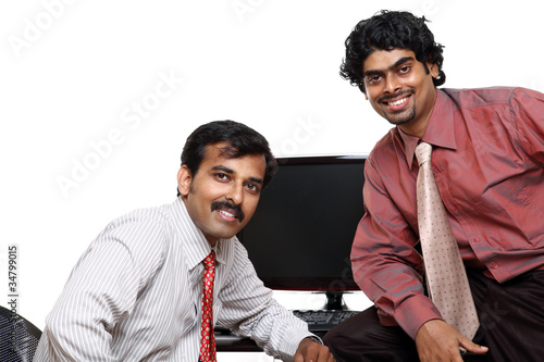 Two Indian businessman in the office