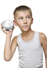 child with his piggy-bank